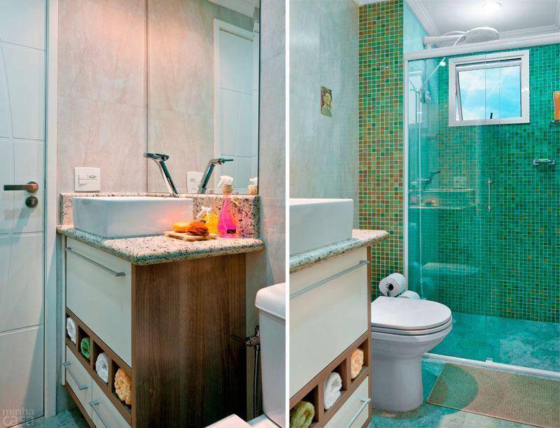 BANHEIROS PEQUENOS E DECORADOS Nossas Dicas -> Banheiro Pequeno Decorados Com Pastilhas