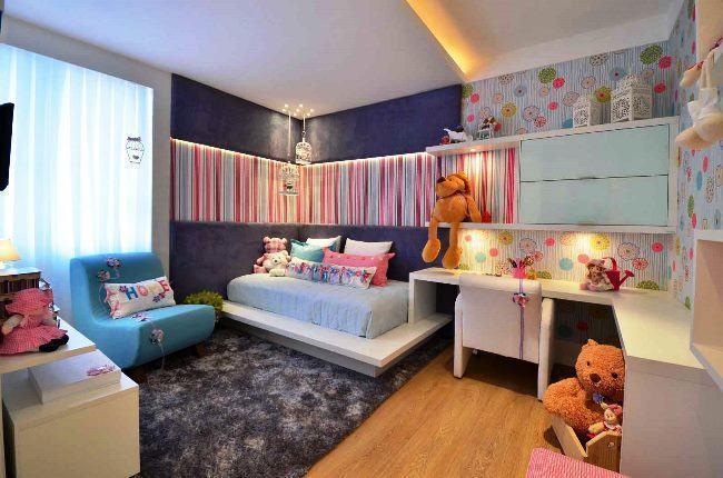 Apartamento decorados 57 fotos para se inspirar - Decoracion habitaciones juveniles nina ...