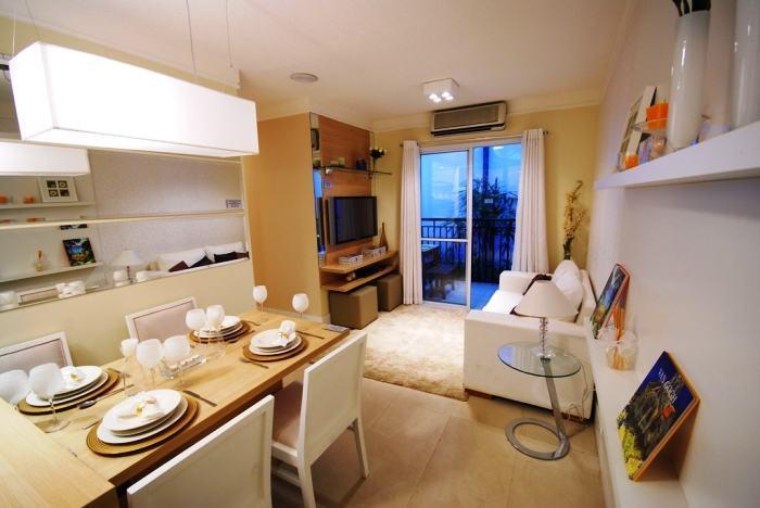 Apartamento decorados 57 fotos para se inspirar for Comedor y sala de estar decorados