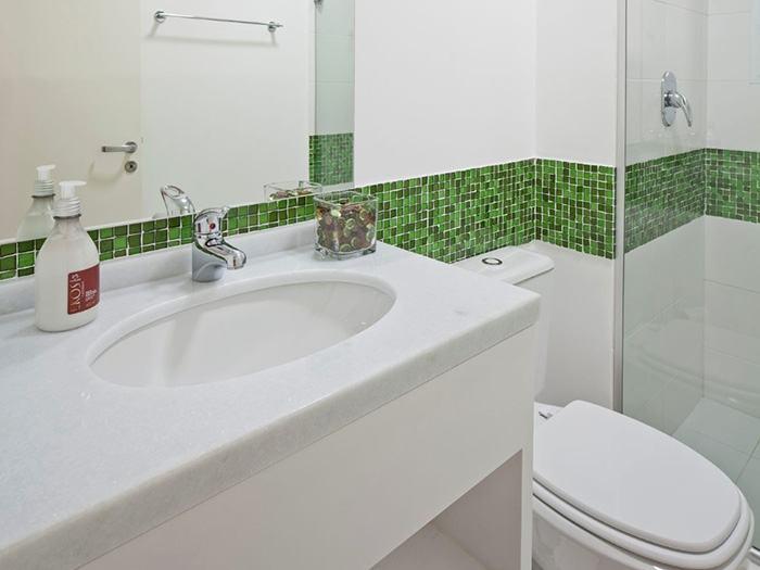 Banheiros Modernos De 2015 : Banheiros decorados com pastilhas