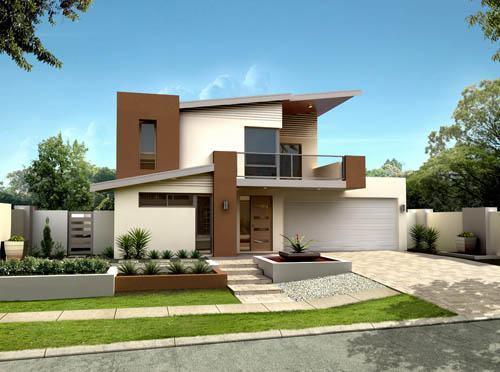Fachadas de casas modernas 35 fotos for Fachadas de casas de 2 pisos pequenas