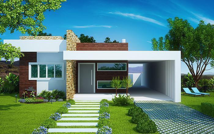 Fachadas de casas modernas 35 fotos for Estilos de casas modernas