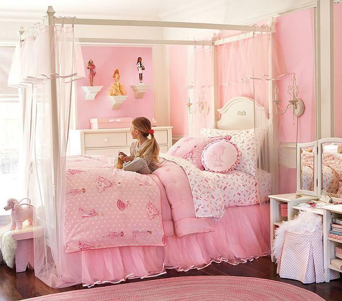Quarto infantil feminino tudo rosa