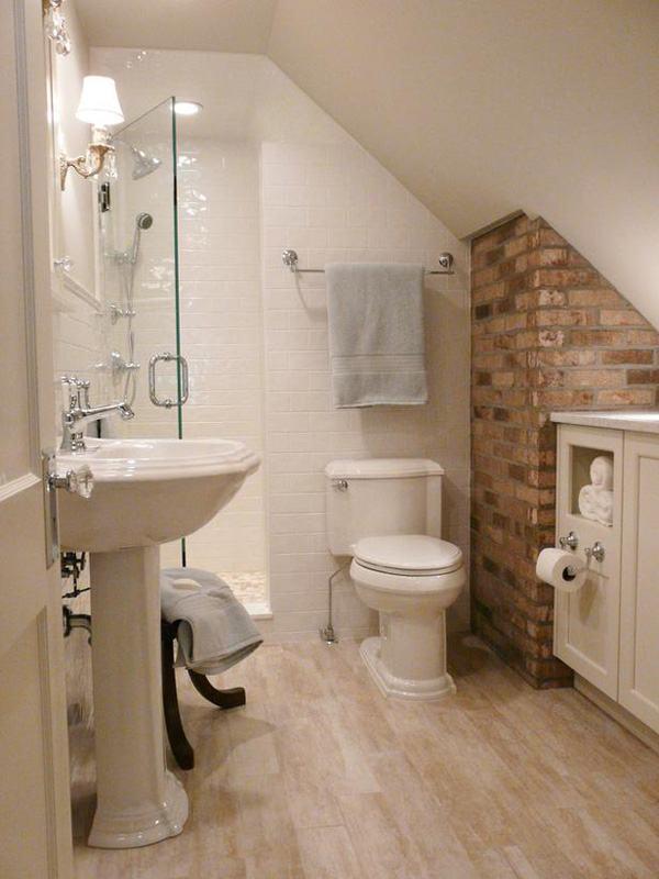 Banheiros Pequenos e Modernos Fotos e Ideias Criativas -> Banheiro Pequeno Moderno E Bonito