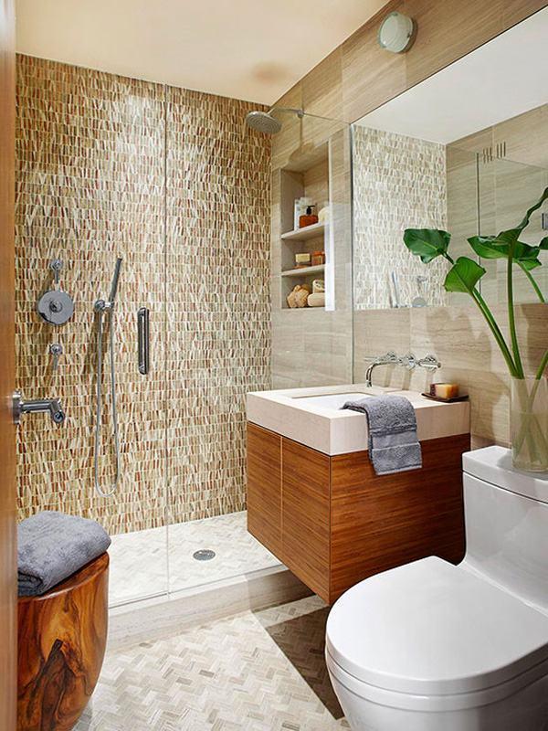 Banheiros pequenos e modernos fotos e ideias criativas for Fotos de banos pequenos decoracion