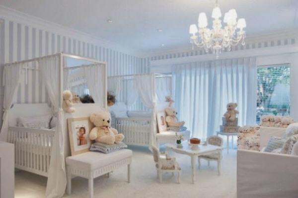 Decoração para Quartos de Bebês Gêmeos 60 Ideias Incríveis ~ Quarto Planejado Para Gemeas