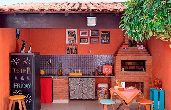 Decoraç u00e3oÁrea de Lazer com Churrasqueira Fotos! -> Decoração De Terraço Com Churrasqueira