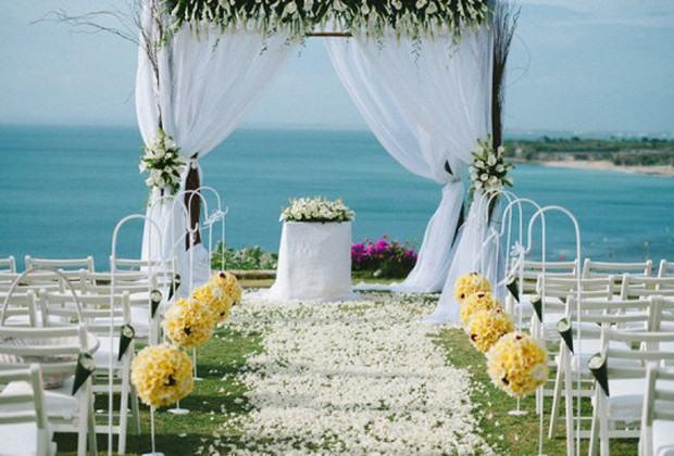Decoraç u00e3o de Casamento na Praia Fotos e Dicas Incríveis -> Decoração De Casamento Na Praia