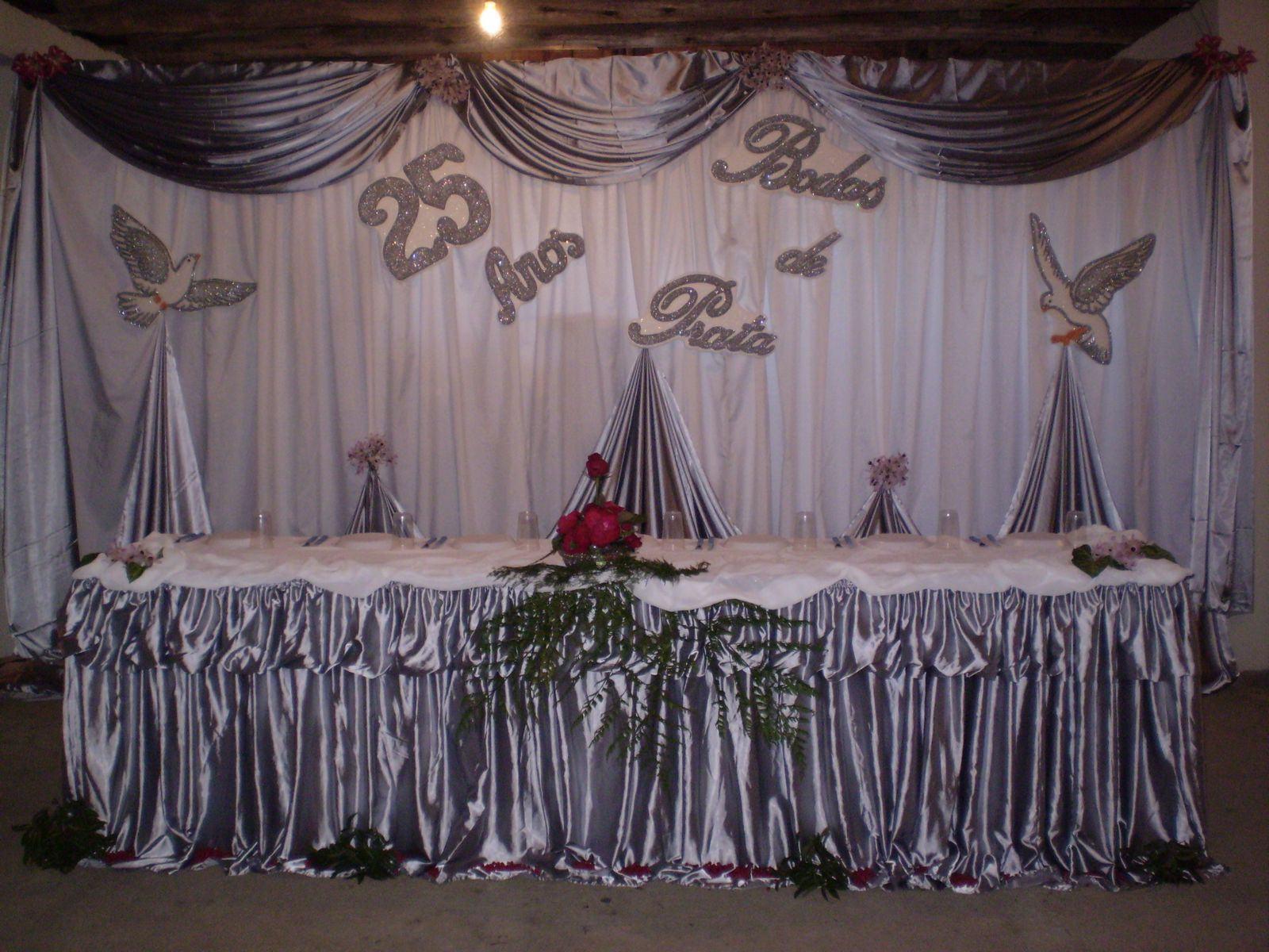 decoracao de bodas de prata 2