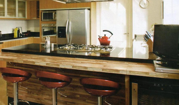 BANCADA DE COZINHA Fotos e 30 Idéias Incríveis # Bancada De Madeira Na Cozinha