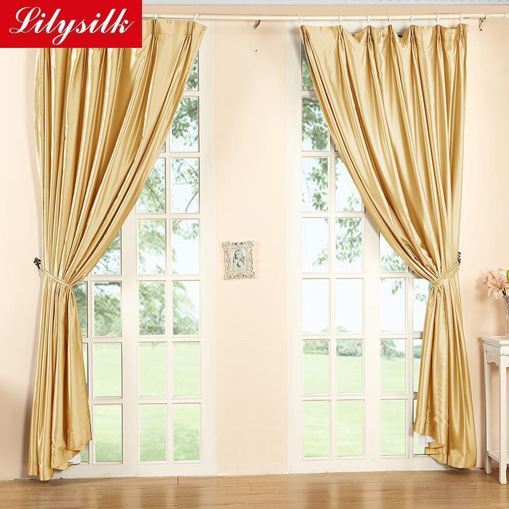 Silk-Curtain-19-Momme-New-Classical-font-b-Living-b-font-font-b-Room-b-font