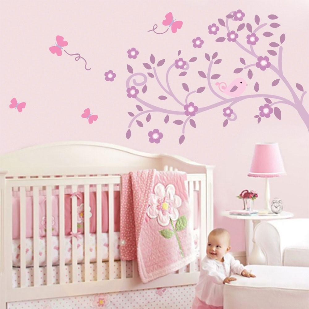 Papel De Parede Para Quarto De Beb  ~ Desenho Para Quarto Feminino E Quarto De Menina Simples