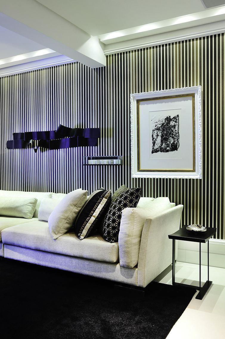 Sala decorada com papel de parede fotos e dicas - Fotos d salas ...