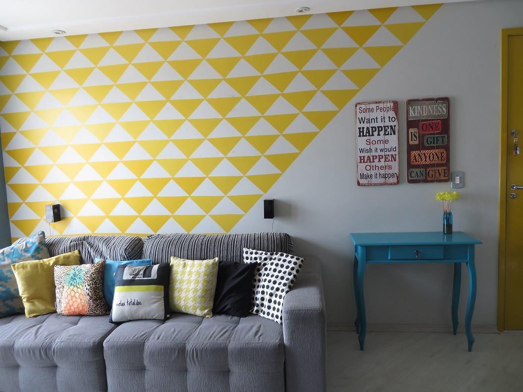 Sala decorada com papel de parede fotos e dicas for Papel para paredes baratos