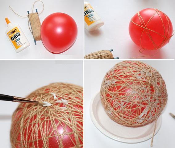 bolas natal como fazer