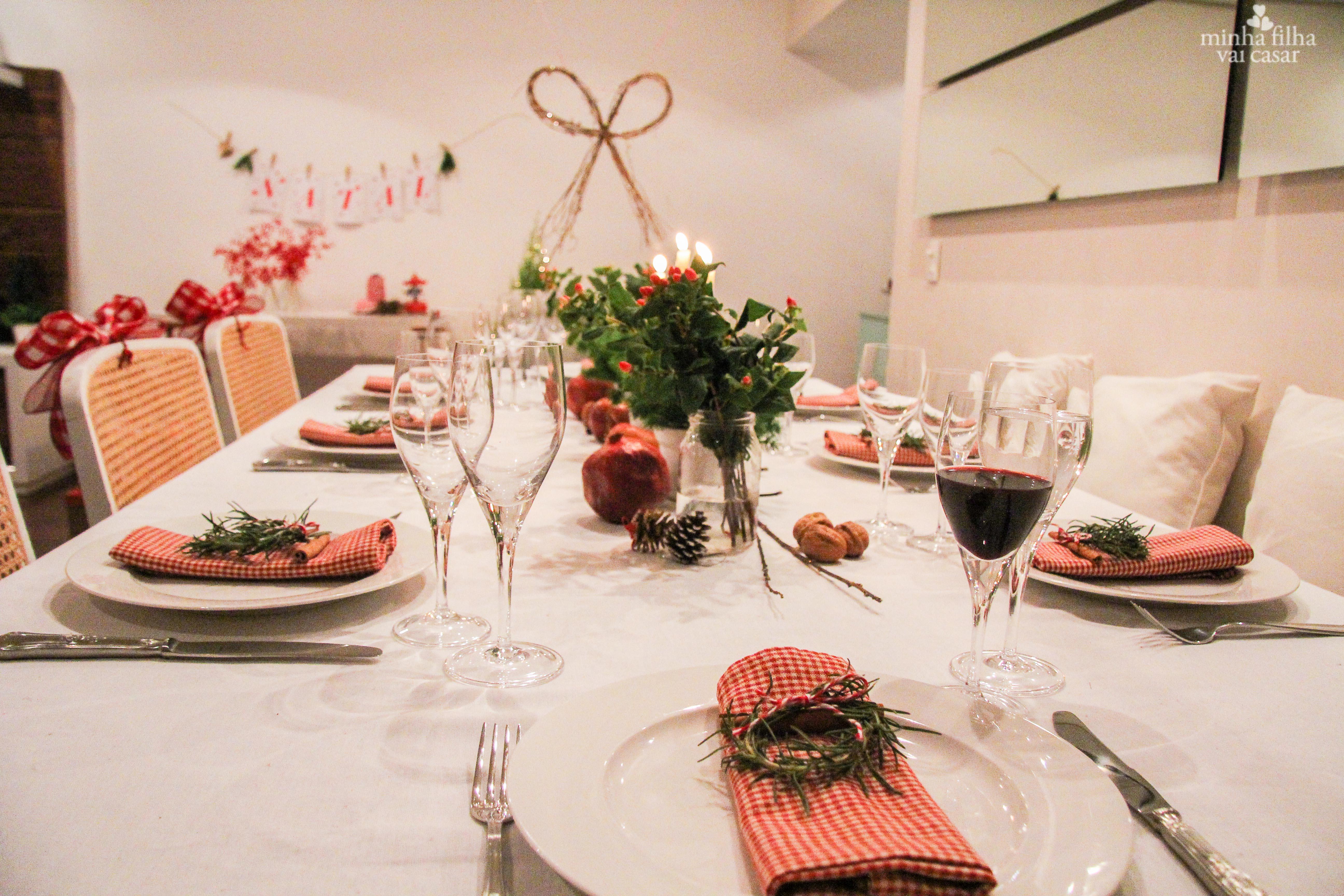 Decoraç u00e3o de Natal Simples 2016 Ideias Incríveis e Fotos # Decoração Ceia De Natal Simples