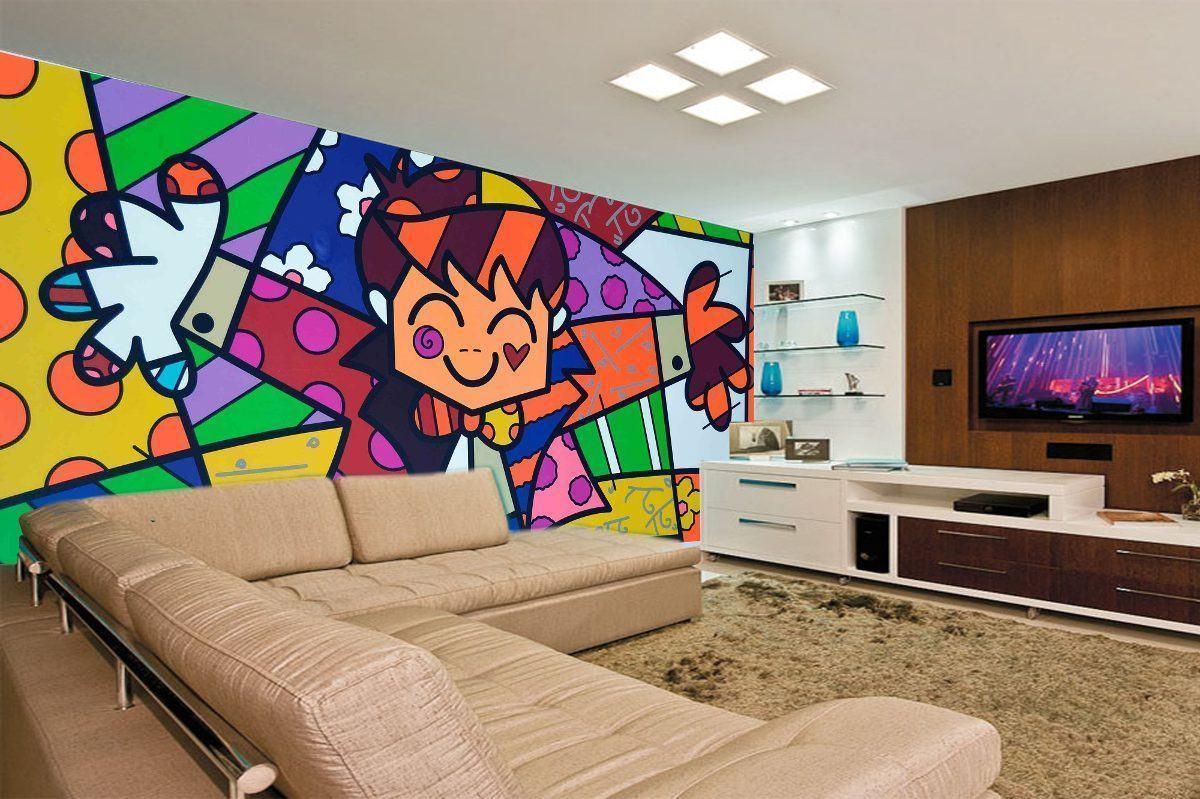 papel-de-parede-romero-britto-pop-art-quadros-colorido