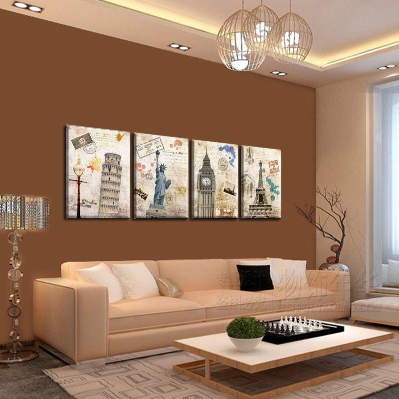 Decoração quadros na sala