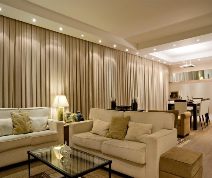 cortinas para sala de estar moderna 2017