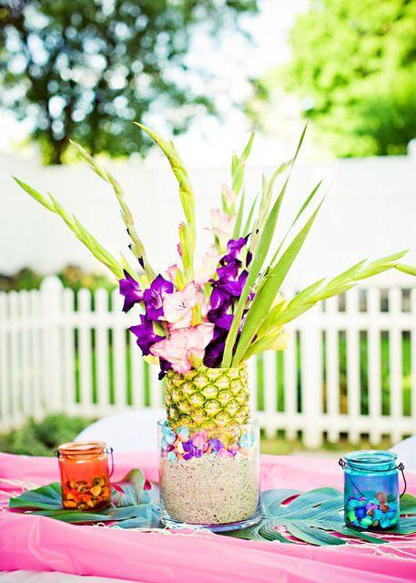 Decoraç u00e3o de Festa Havaiana Fotos, Dicas e Ideias # Decoração De Festa Havaiana Simples