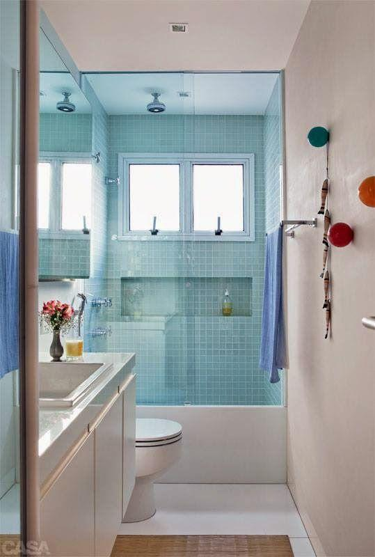 BANHEIROS PEQUENOS DECORADOS 2017 Fotos, Ideias -> Banheiros Pequeno Bonito