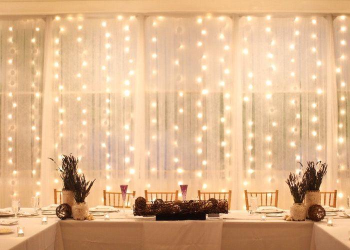 Lighted Christmas Curtains