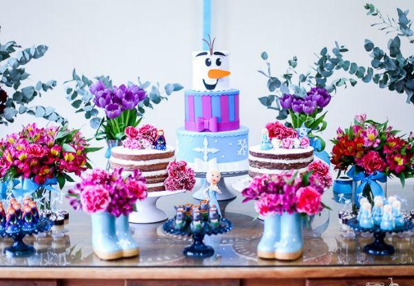 Decoração Festa Infantil Frozen Ideias Baratas Fotos
